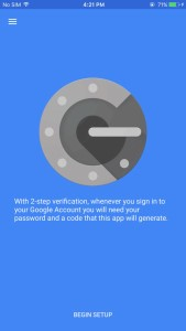 giao dien ung dung google authentication